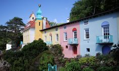 Portmeirion, Wales #portmeirion #wales Port Meirion, House Colors, Wales, Colours, Explore, Mansions, House Styles, Home Decor, Decoration Home