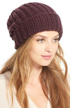 $24, Phase 3 Chunky Rib Knit Beanie. Sold by Nordstrom. Click for more info: https://lookastic.com/women/shop_items/343505/redirect