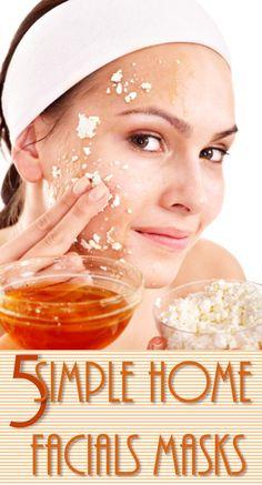 5 Simple Home Facial Masks