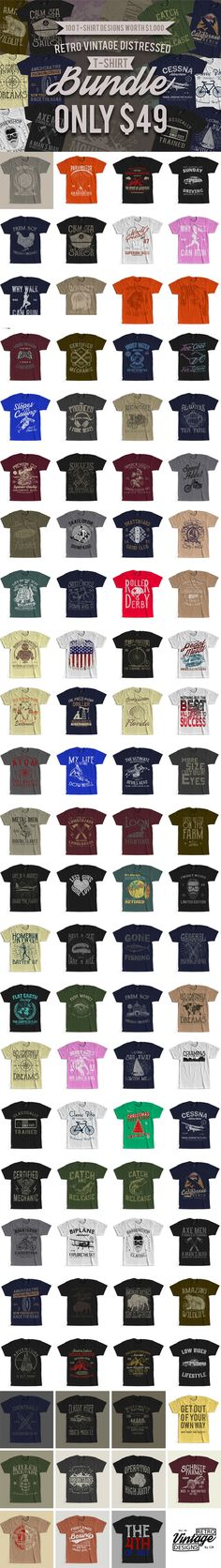 9248662b3 47 Best T-shirt Design Bundle Deals images in 2019 | Design bundles ...
