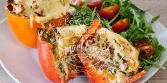 Low Carb gefüllte Paprika mit Ziegenkäse (ohne Fleisch) – herzhaft