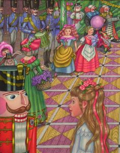 """Vladimir Vagin illustration from """"The Nutcracker Ballet""""."""