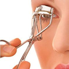 """""""Run your eyelash curler under warm water (or blast it with your blow drier for a second) before using it for a considerably curlier result that lasts!"""""""
