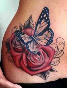 Small Cross Tattoos On Arm Rose And Butterfly Tattoo, Butterfly Tattoos For Women, Butterfly Tattoo Designs, Lotus Flower, Butterfly Quotes, Cross Tattoo On Wrist, Small Cross Tattoos, Tattoo Small, Mom Tattoos