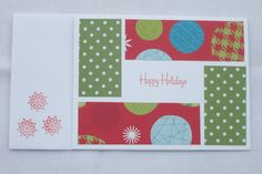 Christmas Card Handmade Handstamped by HandmadeOnJupiter on Etsy, $3.00
