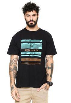 Camiseta Quiksilver Stinger Preta