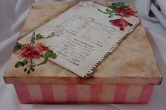 Caixa Rosas Vintage | jupi artes - pintura e decoupagem em mdf | Elo7