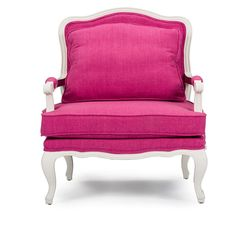$650. Antoinette Traditional Classic Antiqued French Pink Accent Chair