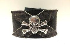 Handmade Men's Skull Bracelet. Black and by ChristyKeysCreations, $15.00