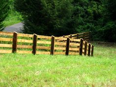 4 rail rough sawn pressure treated pine pasture fence