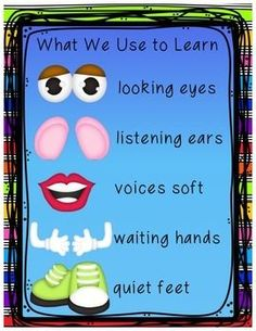 Eye-catching visual for preschool class. Easy way to grab attention and help children understand the rules. - just need a Mr. Disney Classroom, Toddler Classroom, Classroom Rules, Preschool Classroom, Classroom Themes, Preschool Activities, Preschool Decor, Classroom Behavior, Family Activities