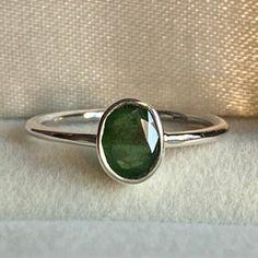 Natural Emerald Ring Solid Silver 925K Sterling Silver 24K   Etsy Sapphire Stone, Amethyst Stone, May Birthstone Rings, Natural Emerald Rings, Emerald Gem, Pink Tourmaline Ring, Morganite Ring, Raw Gemstones, Gemstone Rings