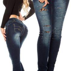 Trhane rifle s cipkou Jeans Pants, Skinny Jeans, Boutique, Fashion, Flare Leg Jeans, Moda, Fashion Styles, Fashion Illustrations, Denim