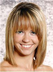 Lisa Kudrow Hairstyle Medium Straight Capless Human Wigs