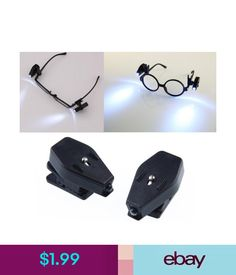1295f4720a Tools Newest Portable Clip On Eye Glasses Light Magnifier Reading Led  Magnifying Glass  ebay