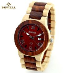Reloj Mujer Bewell Wood Watch Women's Watches Luxury Brand Wooden Wristwatch Female Clock Lady Quartz-watch Gifts for Women