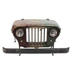 Schreibtisch Jeep - Stahl/Recyclingholz
