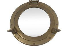 Heavy Antique Brass Porthole coverted into a wall mirror  $159 - SOLD