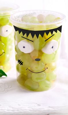 #5. Frankenstein Grape Cups | 15 Super Easy Halloween Treats To Make