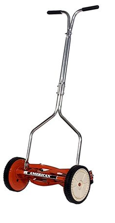 Push Lawn Mower Manual Non Electric Walk Behind Hand Reel 14 Inch Grass Cutter #AmericanLawnMowerCompany