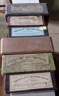 Antique Billiards Balls in original boxes | Browns Antiques Billiards and Interiors.