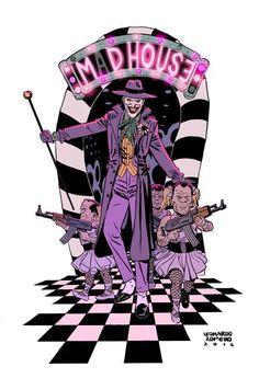 ✧ DC Comics : The Joker's Birthday - Leonardo Romero Joker Dc Comics, Joker Comic, Joker Art, Batman Art, Comic Art, Comic Books, Joker Batman, Gotham Batman, Batman Robin