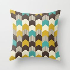 Geometric Throw Pillow Cover Mid Century by TheMotivatedType, $34.00