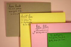 henri, custom hand lettered address stamp $65 | paper pastries