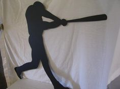 Baseball Player 002 Metal Sports Wall Yard Art by cabinhollow