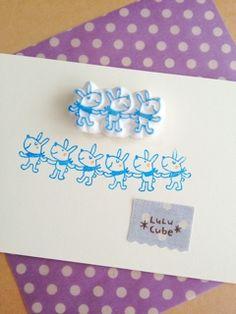 大好きな消しゴムはんことそれにまつわるあれこれを。 Eraser Stamp, Stamp Carving, Handmade Stamps, Fabric Stamping, Chinese New Year, Holiday Crafts, Printmaking, Hand Carved, Screen Printing