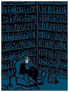 Digital reading / Lectura digital (ilustración de Nishant Choksi)