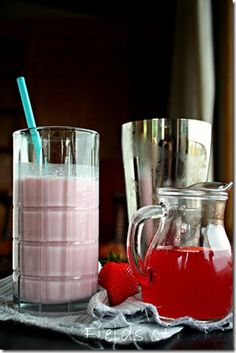 Homemade Strawberry Syrup...Makes Yumma Strawberry Milk or  Super Awesome Adult Drinks...Great Base