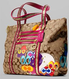dac0cd69a5 Coach Poppy Applique Tote Coach Handbags Outlet