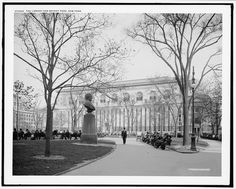 1914: The park was a different place in 1914, with winding paths and the recently built New York Public Library, where the Reservoir once stood. Photo by Library of Congress.