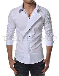 Slim Fit Unbalanced Dress Shirts::::Theleesshop:::: All mens slim & luxury items - Mens Shirts Casual - Ideas of Mens Shirts Casual - Slim Fit Unbalanced Dress Shirts::::Theleesshop:::: All mens slim & luxury items Cool Shirts For Men, Casual Shirts For Men, Men Casual, Men Shirts, Mode Masculine, African Dresses Men, Mens Kurta Designs, Mens Designer Shirts, Men Dress