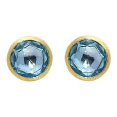 Marco Bicego Jaipur 18ct Yellow Gold Blue Topaz Stud Earrings, OB957 TP01. For luxury easy to wear jewellery, the Marco Bicego collections are the perfect place to start. The fascinating combination of Italian craftsmanship and creativity produces the signature designs that Marco Bicego is famous for. Bicego's designs are based upon three signature hallmarks including multi coloured gem stones, hand twisted coil and hand engraved 18ct gold, all which are showcased in his world renowned… Topaz Color, Blue Topaz, Topaz Gemstone, Gemstone Colors, Topaz Earrings, Stud Earrings, Marco Bicego, Gift Wrapping Services, Latest Jewellery