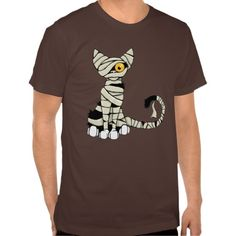 Halloween Mummy Cat T-shirt Design - many styles and colours, both men's and lady's / women's (t-shirts, tee, tees, t shirt, tshirt, creative, cool, graphic, style, text, humour, funny, humorous, hilarious)