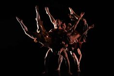 "Dancers of the Pilobolus Dance Theatre company perform a scene of ""Tsu-Ku-Tsu"" at the Auditorium Theatre in Rome, Italy on February 11, 2010. (REUTERS/Alessandro Bianchi) #"