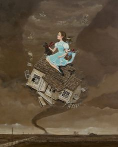 "The Wizard of Oz.  Dorthy and Toto take flight""  Whirlwind Tour by John Coulter"