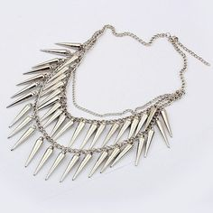 Min.order is $10 (mix order)Fashion Silver spike Collar necklace jewelry Free shipping wholesale on AliExpress.com. $2.96