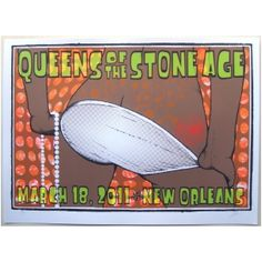 Queens of the Stone Age Poster 2011 Concert New Orleans