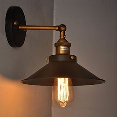 Metal Wall Sconce,180 Degree Adjustable Industrial Edison Vintage Wall Light Retro Wall Lamp E27 with Swing Arm by Konesky