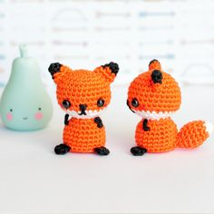 Amigurumi fox stuffed animal, Crochet amigurumi fox plush, Cute fox gifts for friend, Mini crochet plush animals, Mini amigurumi animals