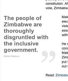 """Simba Makoni, the former Zimbabwean finance minister and presidential candidate in the country's last elections, describes himself as """"an eternal optimist."""""""