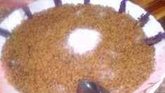 طعام الحلحال بالاعشاب التقليدي Couscous, Pudding, Desserts, Free, Tailgate Desserts, Deserts, Custard Pudding, Puddings, Postres
