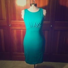 "DROPSusana Monaco Kristy Open Back Dress 35"" shoulder to hem. Very stretchy and works with a normal bra. The color is a beautiful rich turquoise.  Worn once and in excellent condition. Susana Monaco Dresses Mini"