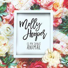 "Molly Hooper is my spirit animal - 8x10"" Sherlock Printable Poster - Sherlock Wall Art- Sherlock Quote Typography Print -Instant Download"