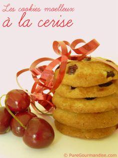 Cookies moelleux à la cerise | by puregourmandise.com