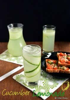 Cucumber Lemonade Summer Recipes: of cucumber juice, no lemon zest or salt Cucumber Lemonade, Cucumber Juice, Cucumber Recipes, Mojito, Party Food And Drinks, Fun Drinks, Healthy Drinks, Healthy Recipes, Cold Drinks