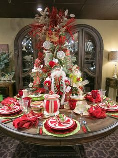 Christmas table setting this blog has great decorating for Decoration 3 chocolat
